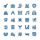 Entertainment, party, corporate event, celebration line icons set. Modern graphic design concepts, simple symbols, linear stroke web elements, pictograms collection. Minimal thin line design. Premium quality. Pixel perfect. Vector outline icons