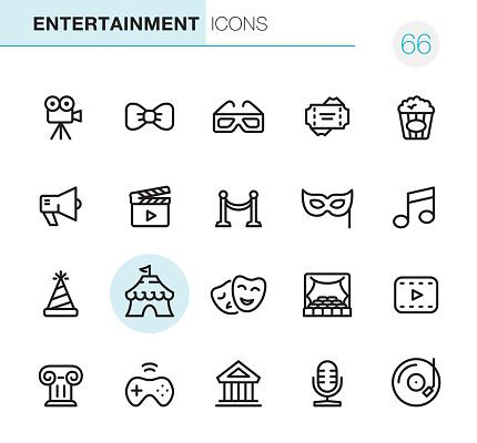 Entertainment - Pixel Perfect icons