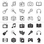 Entertainment thin icons