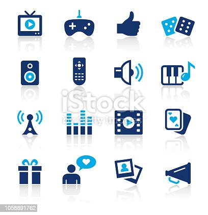 An illustration of entertainment two color icons set for your web page, presentation, apps and design products. Vector format can be fully scalable & editable.
