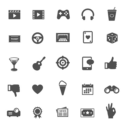 Entertainment vector icons