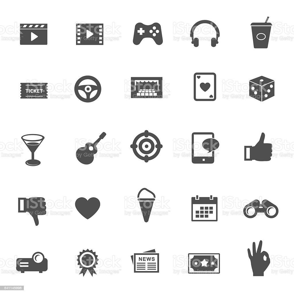 Entertainment vector icons vector art illustration