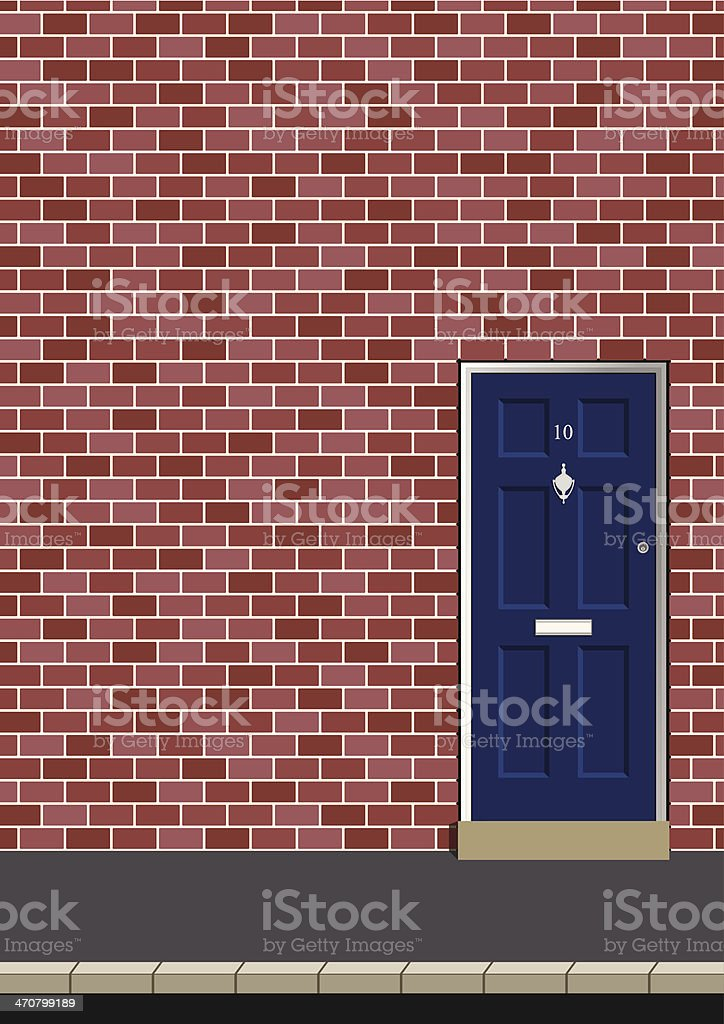 Entrance door vector art illustration