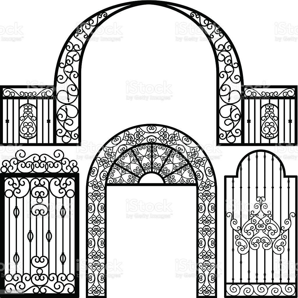 Entrance Gate Door Fence Vintage Retro Ancient Garden Royalty Free
