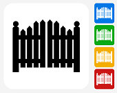 Entrance Gate Icon Flat Graphic Design