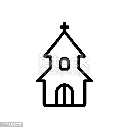 entrance to christian church icon vector. entrance to christian church sign. isolated contour symbol illustration