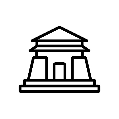 entrance to sacred temple icon vector outline illustration