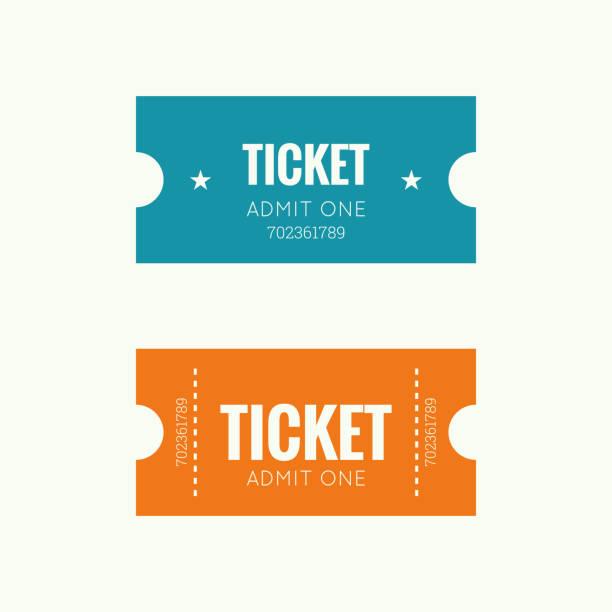 입력도 ticke - 티켓 스텁 stock illustrations