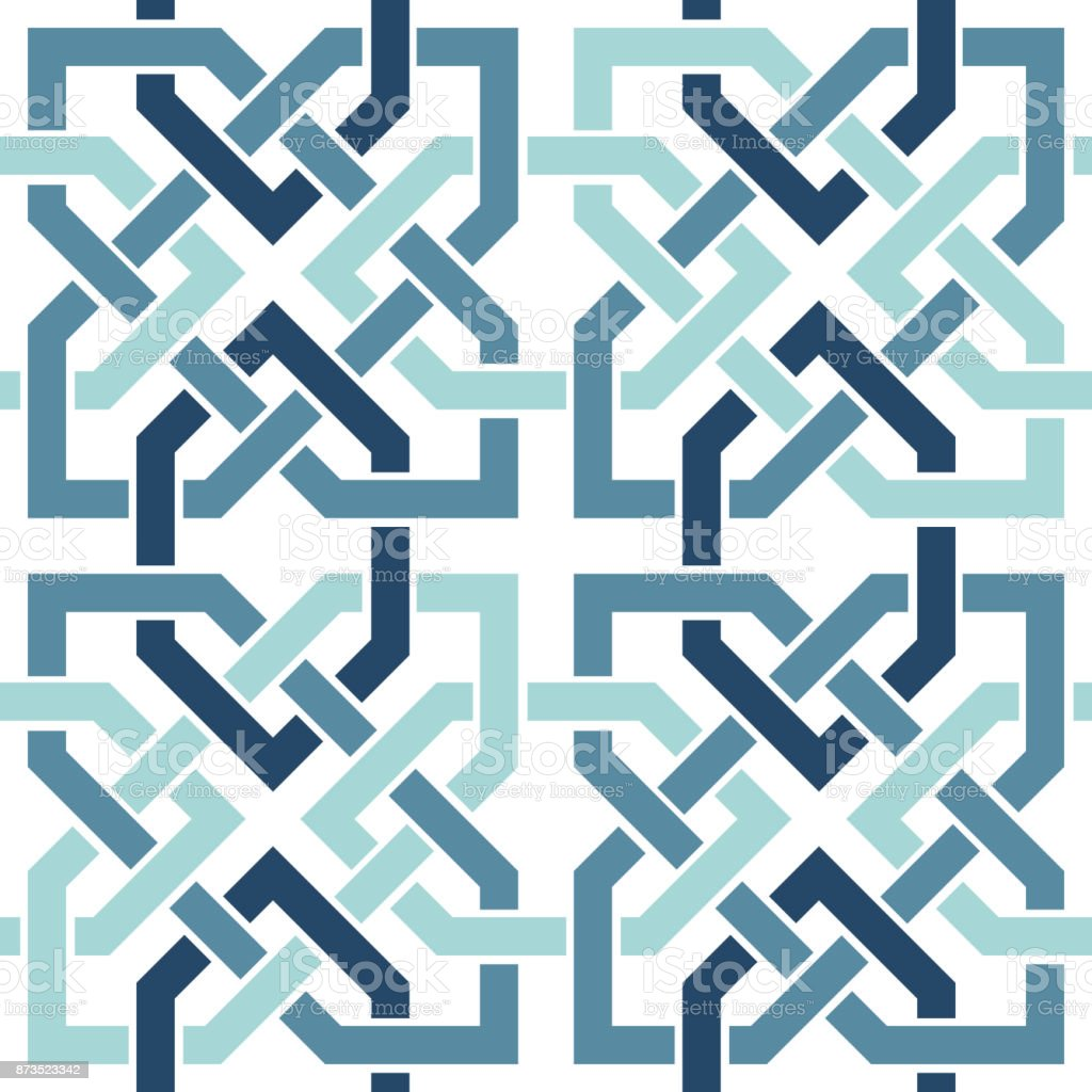 Entwined Modern Pattern Based On Traditional Oriental Arabic ... for Modern Arabic Pattern Vector  557yll