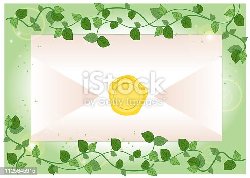 istock Envelope and sealed - Ivy Frame 1125845915