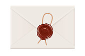 Envelope back with sealing wax