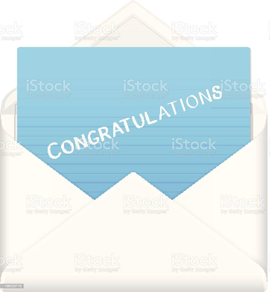 envelope congratulations royalty-free stock vector art