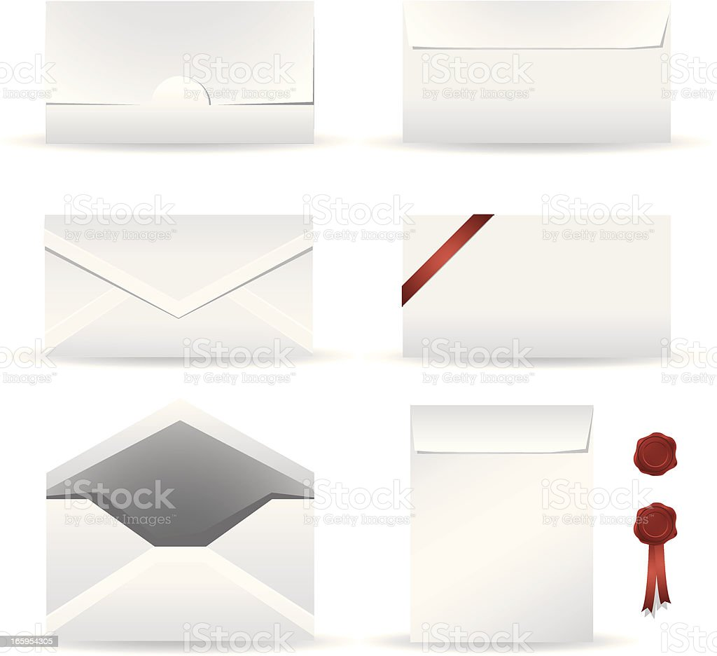 envelope design template vector art illustration