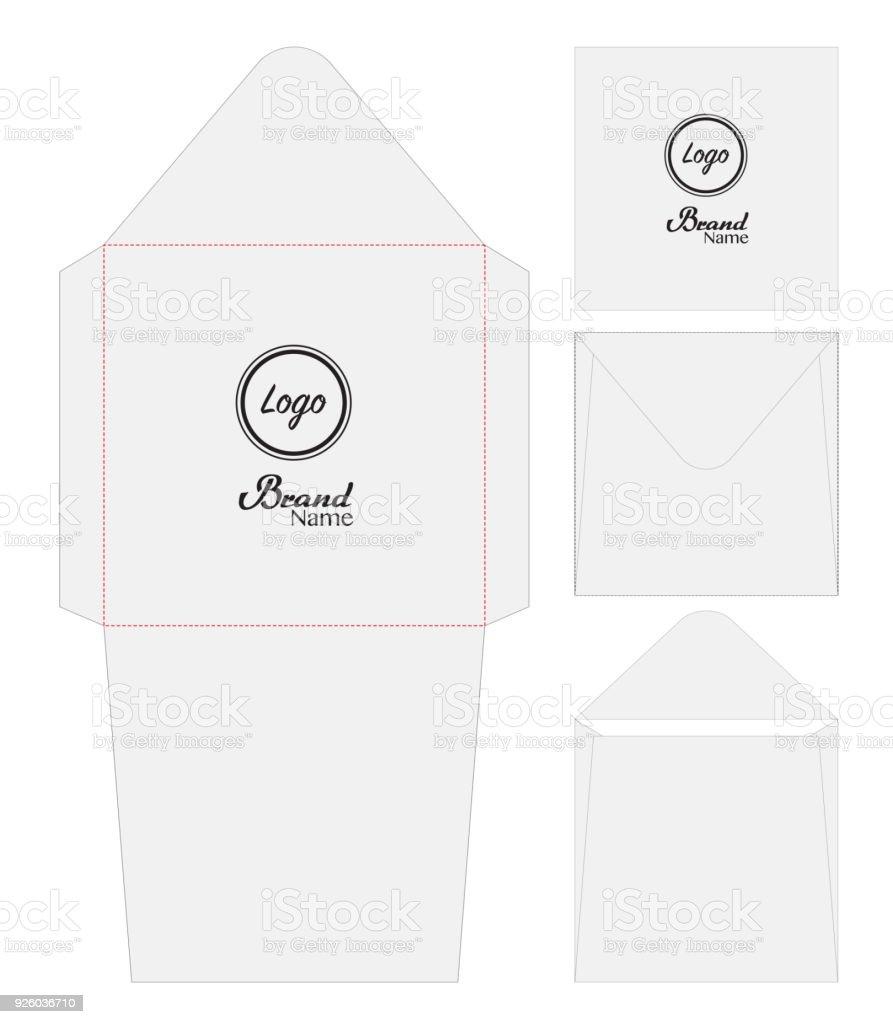 envelope die cut mock up template vector stock vector art more