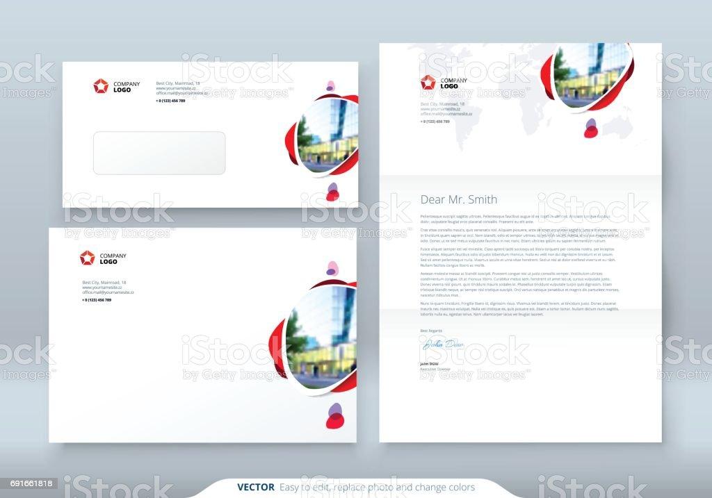 Umschlag Dl C5 Briefkopf Corporate Businesstemplate Für Umschlag Und