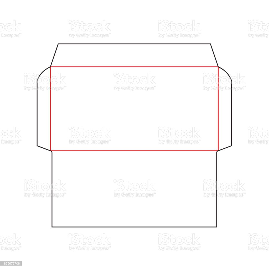 envelope dl size template stock vector art more images of alphabet