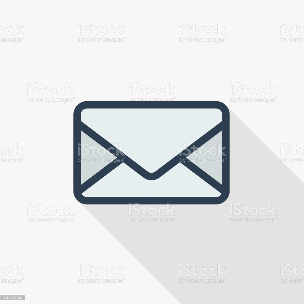 Envelope Email Letter Mail Thin Line Flat Color Icon