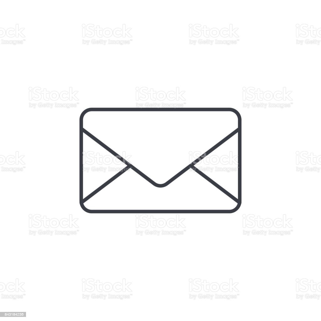 Envelope email letter mail thin line icon linear vector symbol envelope email letter mail thin line icon linear vector symbol royalty free buycottarizona