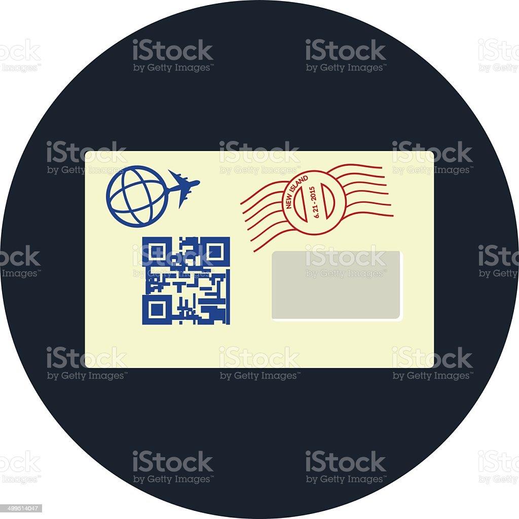 Envelope  - flat icon royalty-free stock vector art