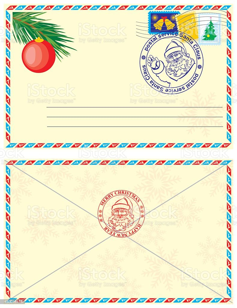 envelope from santa claus stock vector art more images of 2015