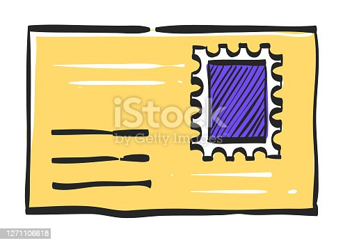 istock Envelope icon in color drawing 1271106618