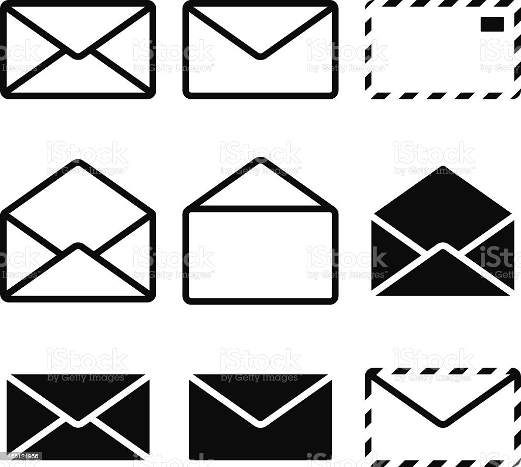 Envelope Icon vector art illustration