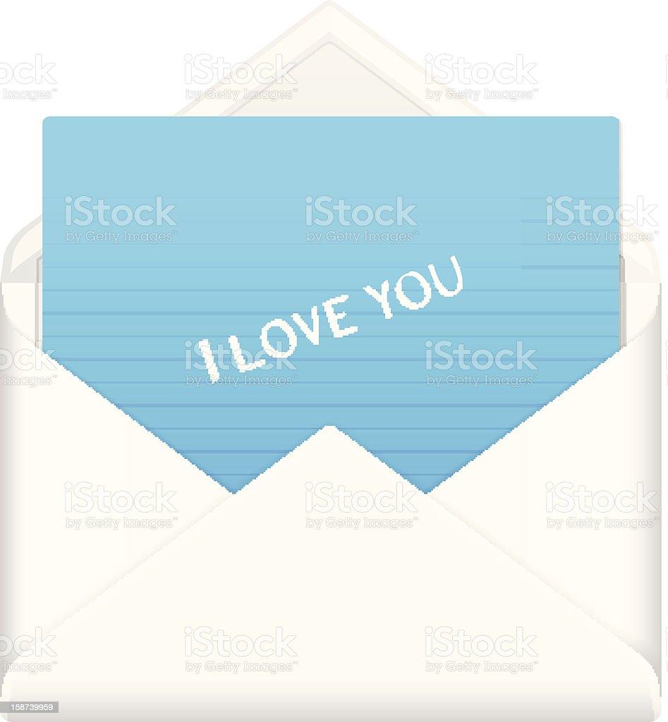 envelope love you royalty-free stock vector art