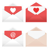 Envelopes Icon Set of in vector.