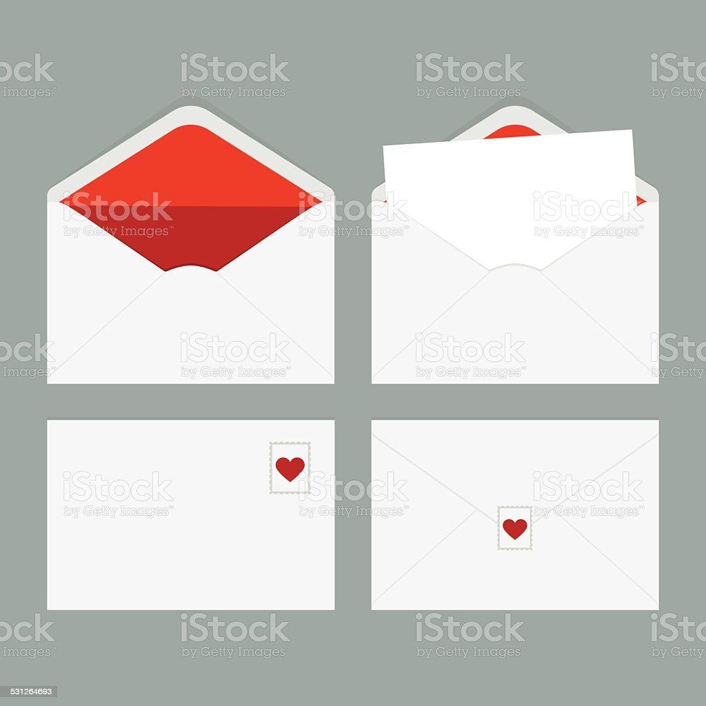 Envelope Set vector art illustration