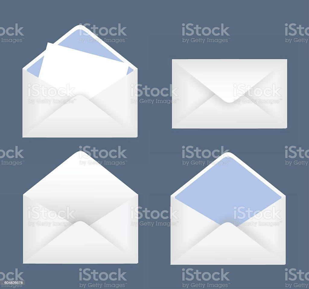 Envelope set vector illustration vector art illustration