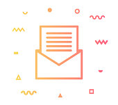Envelope icon shape with outline vector illustration. Concept line icon for social media, networking, marketing, social media campaign etc.