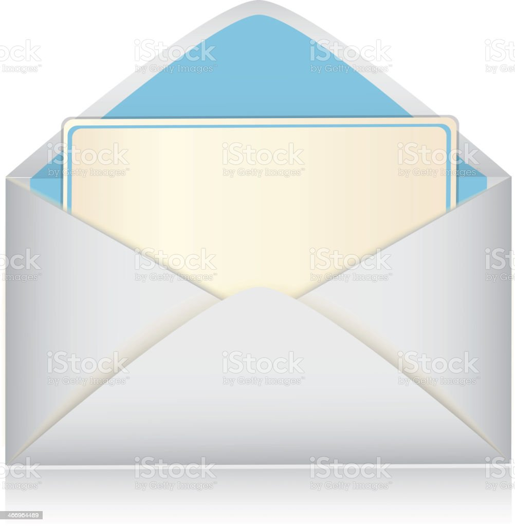 envelope with a card royalty-free stock vector art