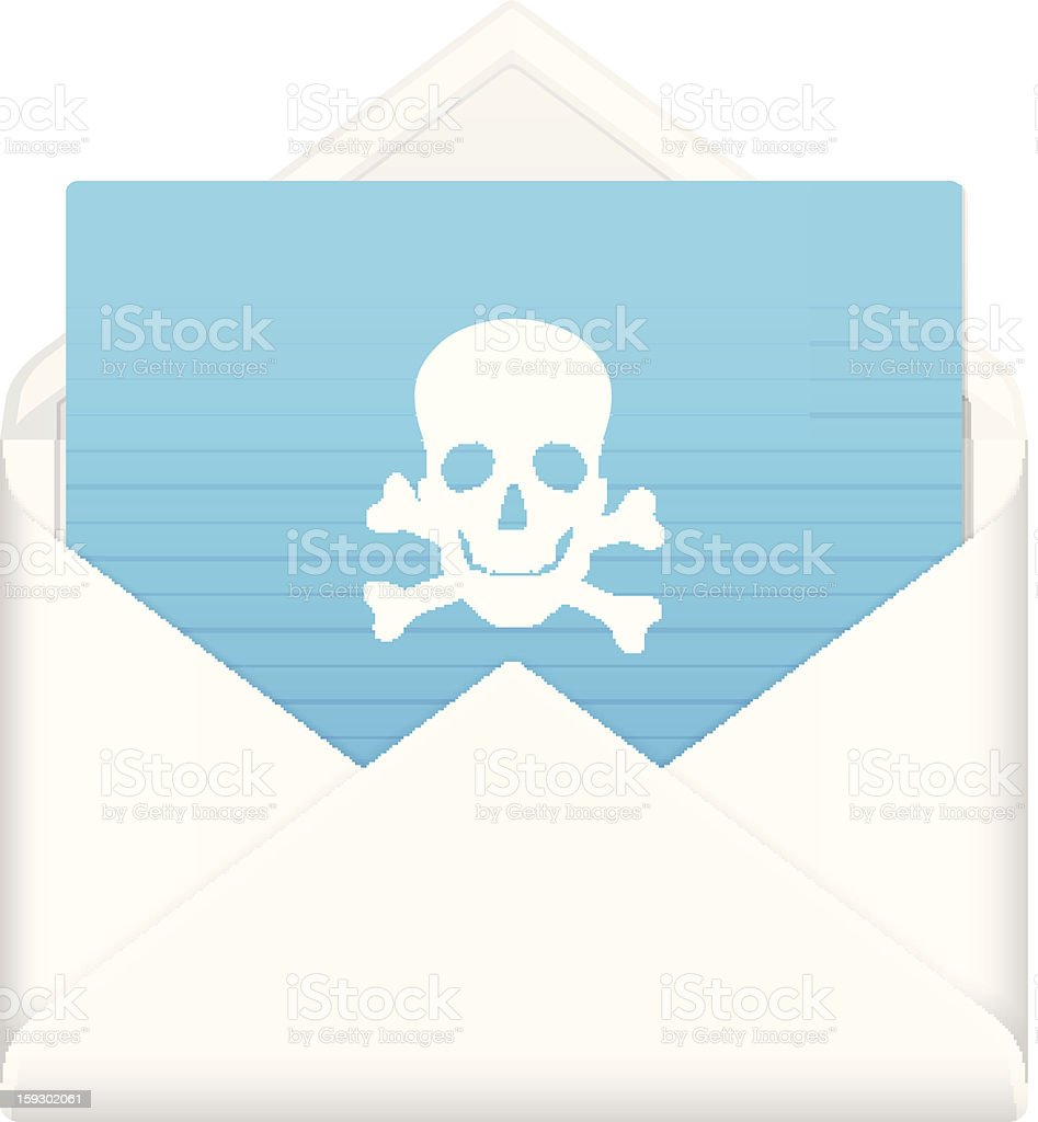 envelope with danger symbol royalty-free stock vector art