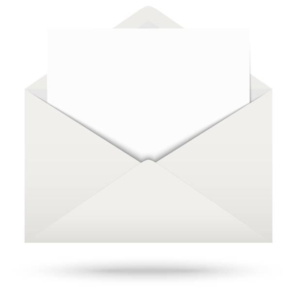 Umschlag mit Notizblock – Vektorgrafik
