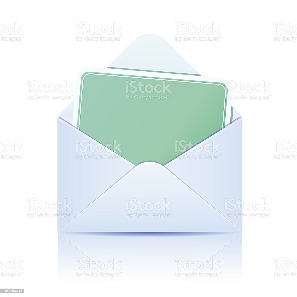 Envelope with paper card royalty-free stock vector art