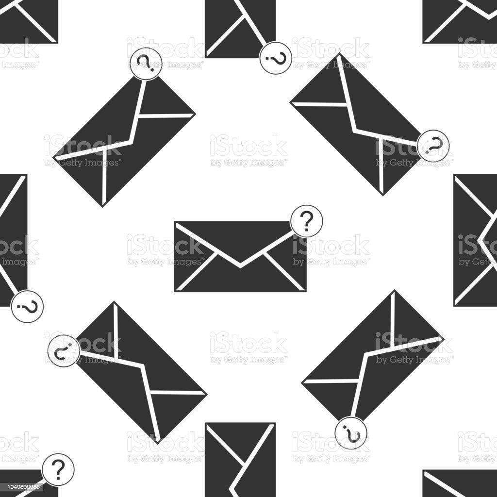 Umschlag Mit Fragezeichensymbol Nahtlose Muster Auf Weißem