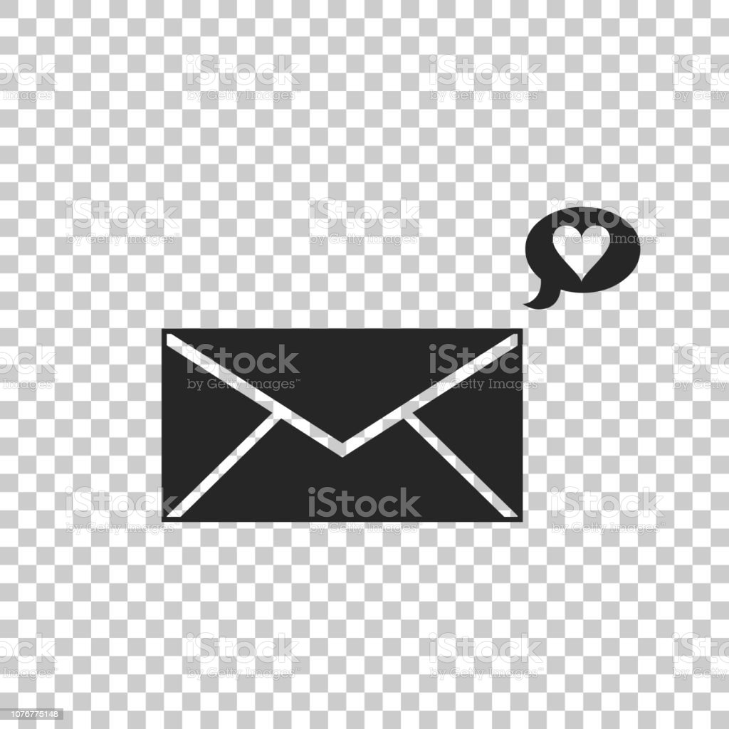 Envelope With Valentine Heart Icon Isolated On Transparent