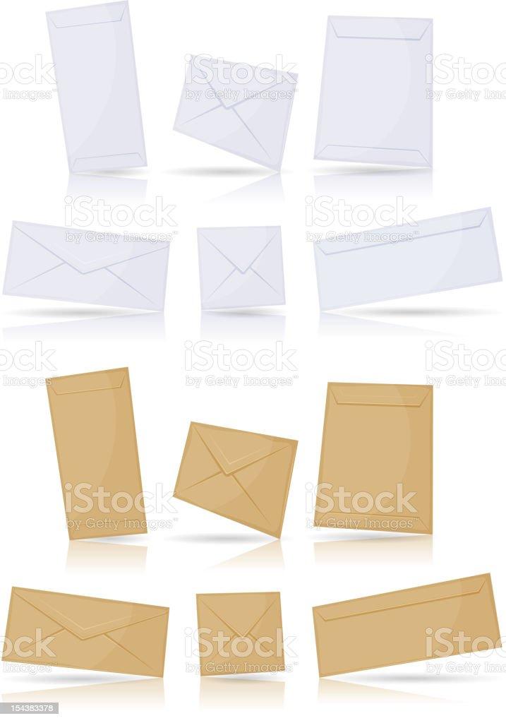 Envelopes Set royalty-free envelopes set stock vector art & more images of closed
