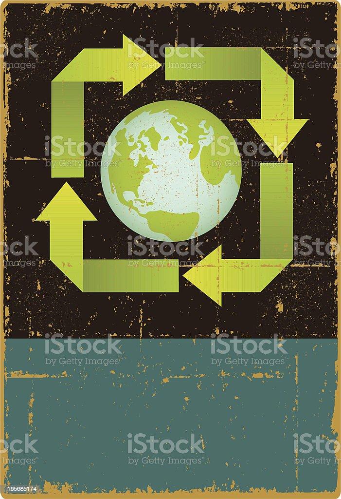 Enviro Earth Sign royalty-free stock vector art