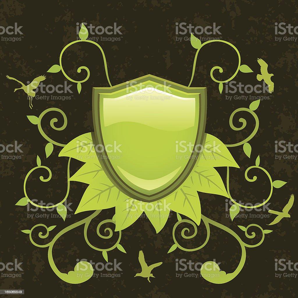Enviro Shield royalty-free stock vector art