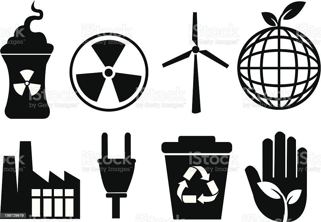 Enviromental icons royalty-free stock vector art