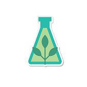 Environment Icon sticker flat design style.
