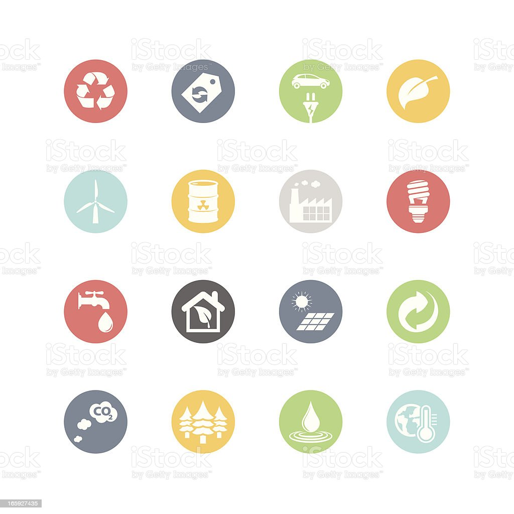 Environment icons minimal style stock vector art more for Minimal art vector