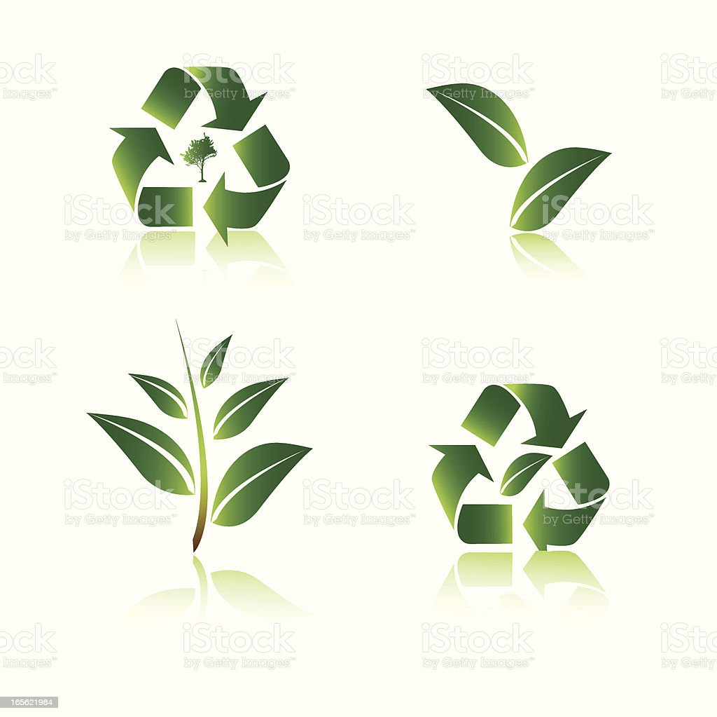 Environment icons royalty-free stock vector art