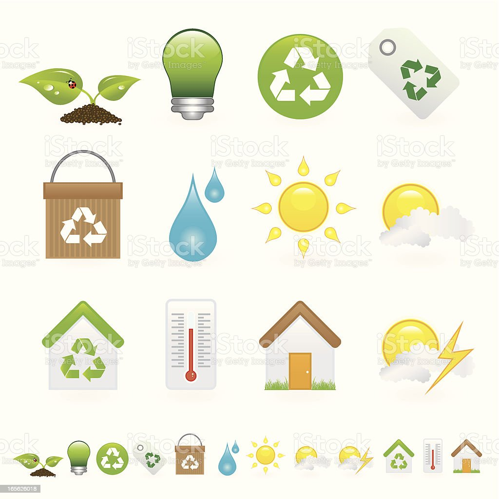Environment icons royalty-free environment icons stock vector art & more images of bag