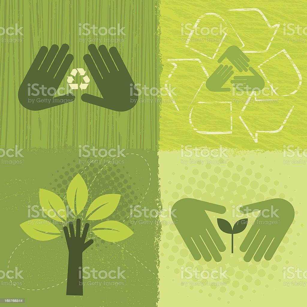 Environment Icons (Green World Series) royalty-free stock vector art
