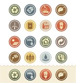 Environment Icons : Vintage Badge Series