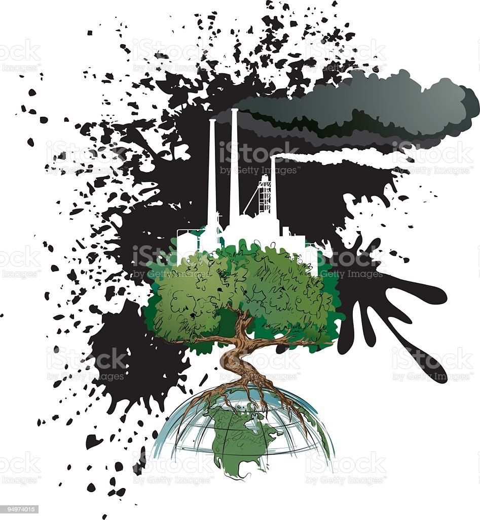 Environment - Industrial Air polution royalty-free environment industrial air polution stock vector art & more images of air pollution