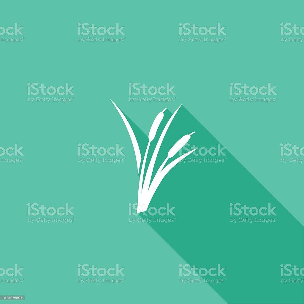 Ambiente natureza cor plana Icon-sombra longa - Royalty-free Colorido arte vetorial