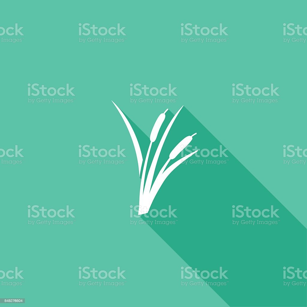 Environment Nature Flat Color Icon - Long Shadow vector art illustration